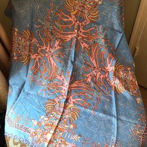Pineda Covalin of Mexico silk scarf